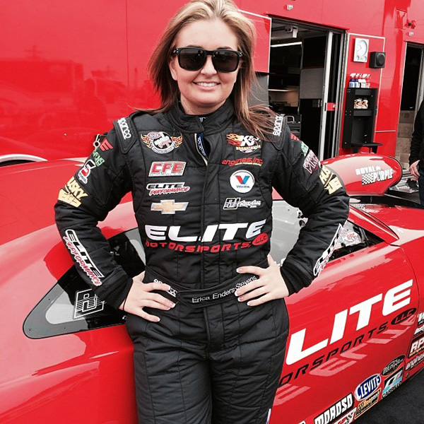 Erica Enders-Stevens in new Sparco Elite Motorsports fire suit