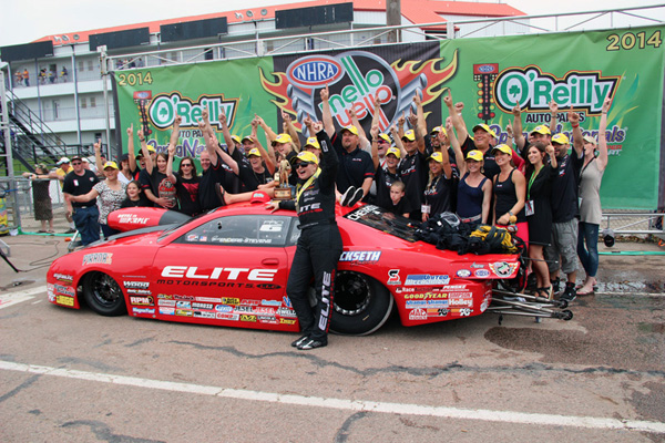 Erica Enders-Stevens Houston Winner Circle
