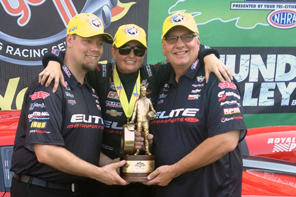 Erica Enders-Stevens, Rick and Rickie Jones in Bristol