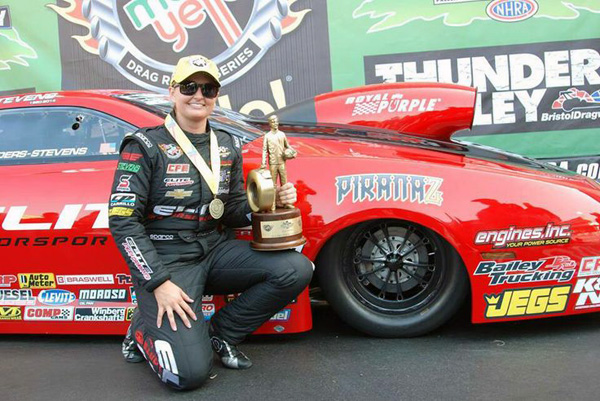 Erica Enders-Stevens in Bristol winner's circle