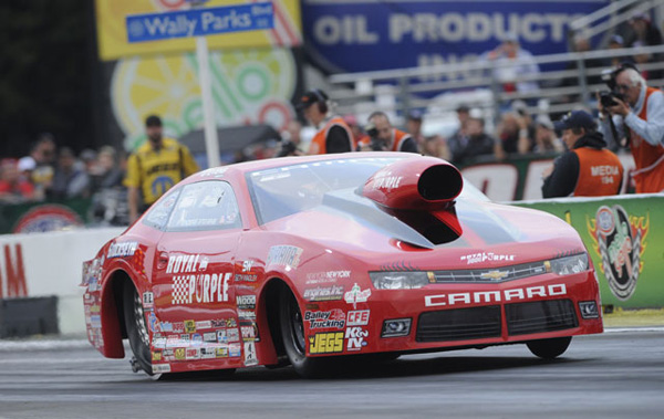 Erica Enders-Stevens during Friday qualifying at Pomona